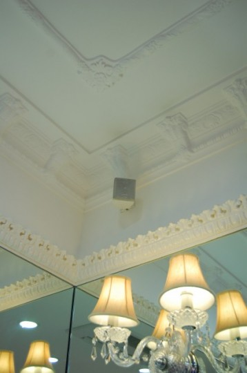 3 levels – ornate picture rail mouldings with fine detail